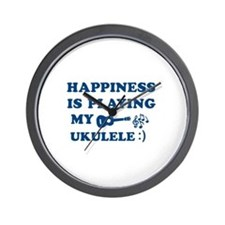 Ukulele Vector Designs Wall Clock