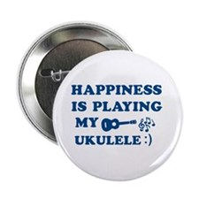 "Ukulele Vector Designs 2.25"" Button"