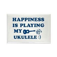 Ukulele Vector Designs Rectangle Magnet