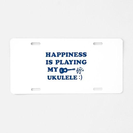 Ukulele Vector Designs Aluminum License Plate