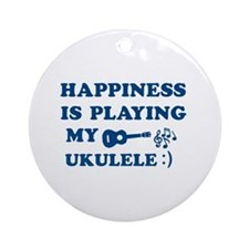 Ukulele Vector Designs Ornament (Round)
