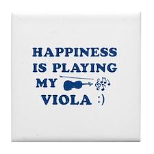 Viola Vector Designs Tile Coaster