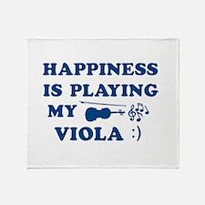 Viola Vector Designs Throw Blanket