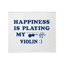 Violin Vector Designs Throw Blanket