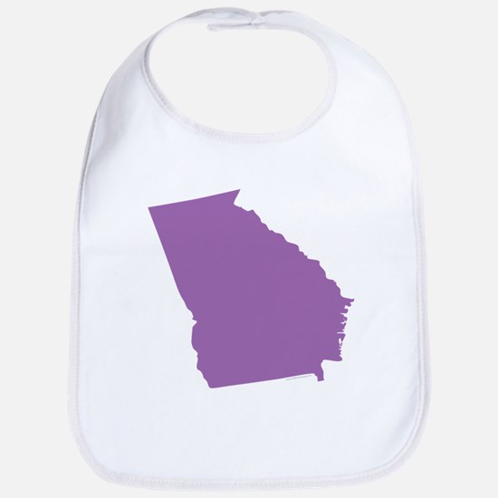 Georgia State Shape Outline Cotton Baby Bib