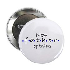New Father of Twins Button