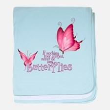 Pink Butterfly baby blanket