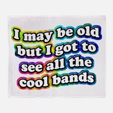 All The Cool Bands Throw Blanket