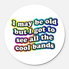 All The Cool Bands Round Car Magnet