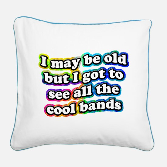 All The Cool Bands Square Canvas Pillow