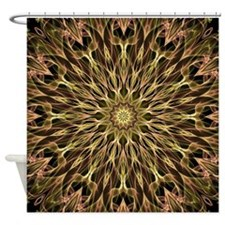 Gold and Copper Mandala Shower Curtain