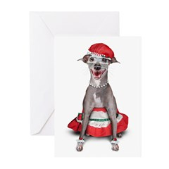 Mrs. Iggy Claus Greeting Cards (6)
