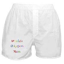 World's Okayest Mom Boxer Shorts