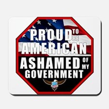 Proud USA Ashamed Government Mousepad