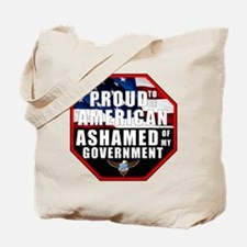 Proud USA Ashamed Government Tote Bag