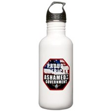 Proud USA Ashamed Government Water Bottle