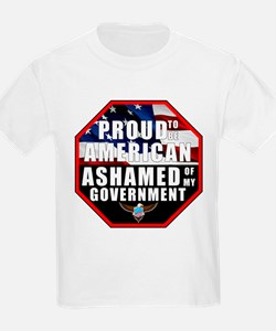 Proud USA Ashamed Government T-Shirt