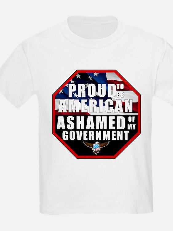 Proud USA Ashamed Government T-Shirt