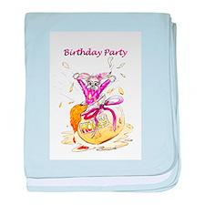 Honey Bunny, Happy Birthday invitation baby blanke