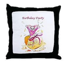 Honey Bunny, Happy Birthday invitation Throw Pillo
