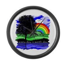 Earth Day Large Wall Clock