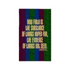 Hebrews 11 1 Faith 3'x5' Area Rug