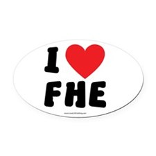 I Love FHE - LDS Clothing - LDS T-Shirts Oval Car