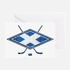 Scottish Ice Hockey Flag Greeting Card