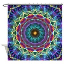 Inward flower Mandala Shower Curtain