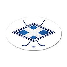 Scottish Ice Hockey Flag Wall Decal