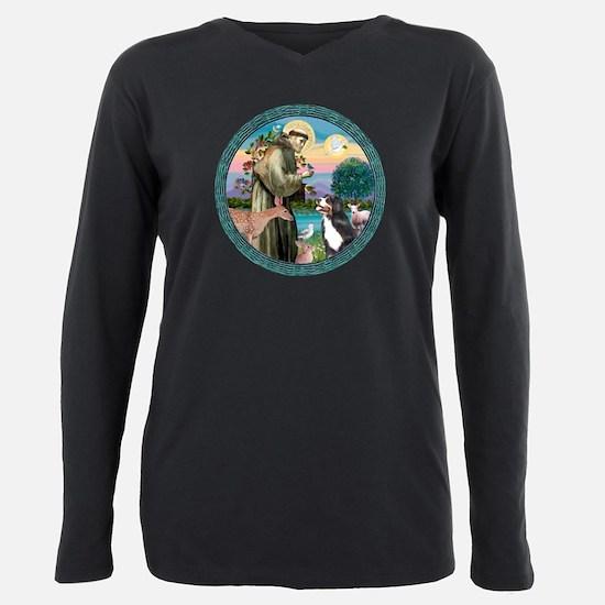W-StFrancis-BerneseMtDog T-Shirt