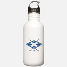 Scottish Ice Hockey Flag Water Bottle
