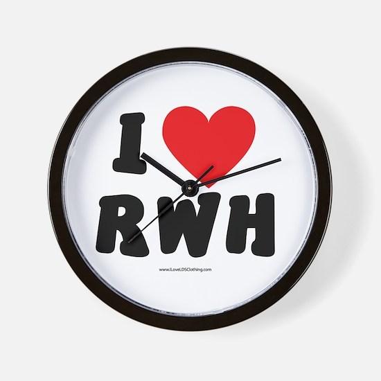 I Love RWH - LDS Clothing - LDS T-Shirts Wall Cloc