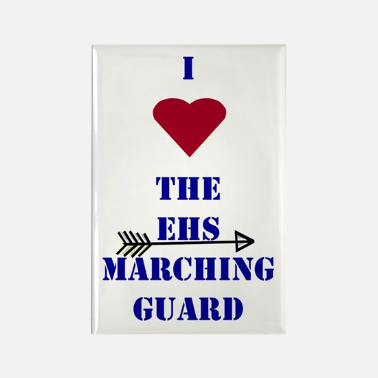 I Heart The EHS Marching Guard Rectangle Magnet
