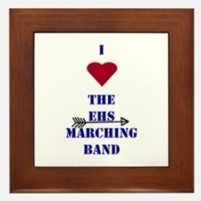 I Heart the EHS Marching Band (With Arrow) Framed