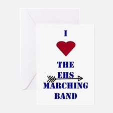 I Heart the EHS Marching Band (With Arrow) Greetin