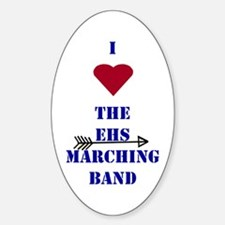 I Heart the EHS Marching Band (With Arrow) Decal
