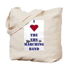 I Heart the EHS Marching Band (With Arrow) Tote Ba