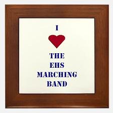 I Heart The EHS Marching Band Framed Tile