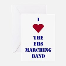 I Heart The EHS Marching Band Greeting Cards (Pack
