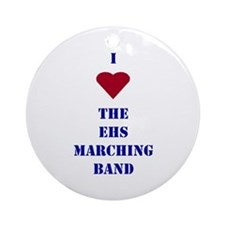 I Heart The EHS Marching Band Ornament (Round)