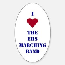 I Heart The EHS Marching Band Oval Decal