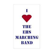 I Heart The EHS Marching Band Sticker (Rectangular