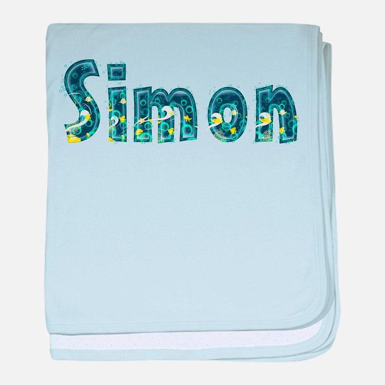 Simon Under Sea baby blanket