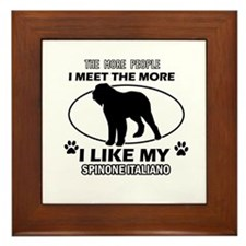 Spinone Italiand dog breed designs Framed Tile