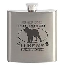 Spinone Italiand dog breed designs Flask