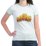Movie Popcorn Jr. Ringer T-Shirt