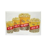 Movie Popcorn Rectangle Magnet (100 pack)