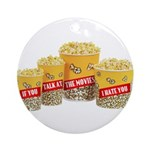 Movie Popcorn Ornament (Round)