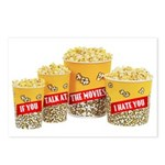 Movie Popcorn Postcards (Package of 8)